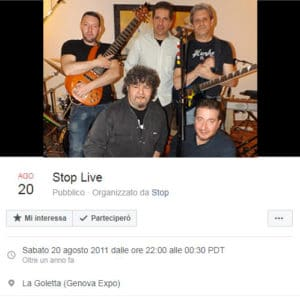 stop live 20 agosto 2011