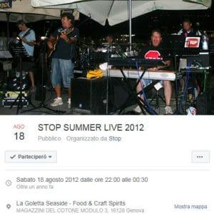 stop live 18 agosto 2012