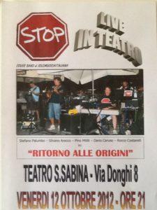 stop live 12 ottobre 2012